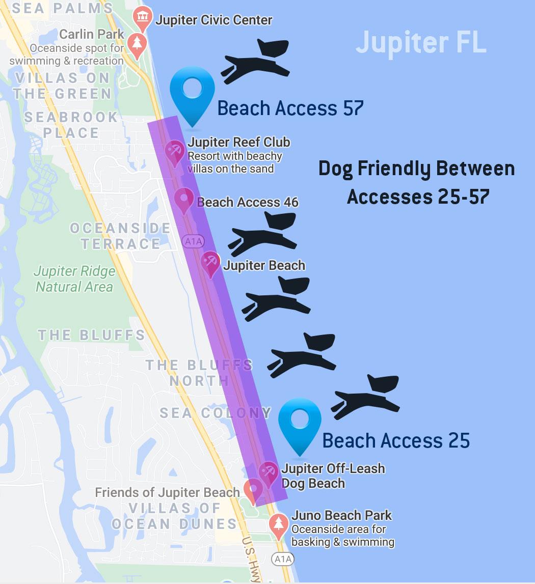 jupiter dog park map